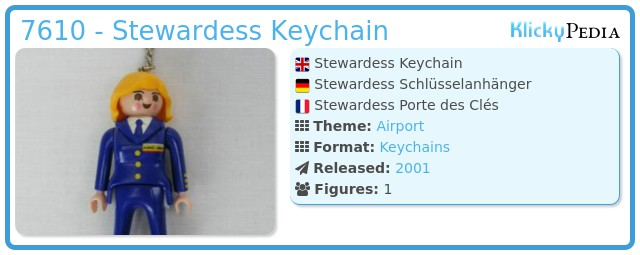 Playmobil 7610 - Stewardess Keychain