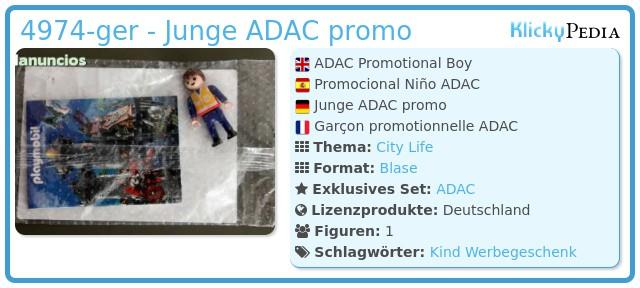 Playmobil 4974-ger - ADAC Promotional Boy