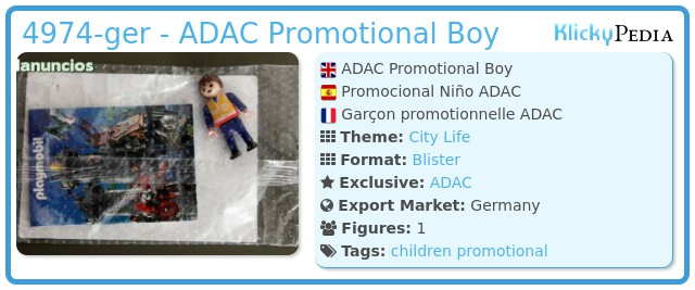 Playmobil 4974-ger - ADAC Promotional Boy