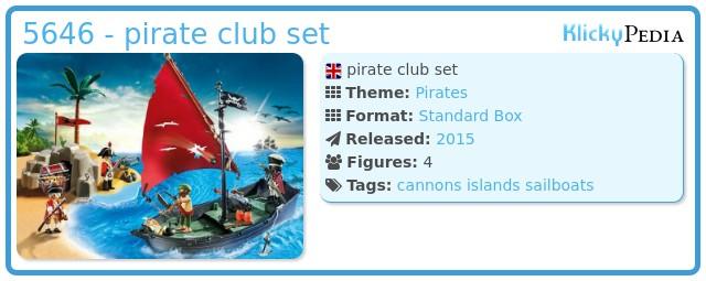 Playmobil 5646 - pirate club set