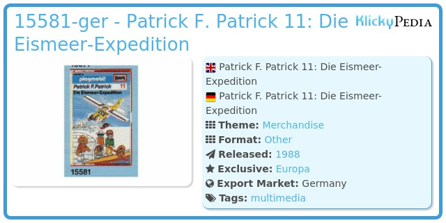 Playmobil 15581-ger - Patrick F. Patrick 11: Die Eismeer-Expedition