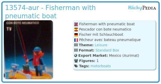 Playmobil 13574-aur - Fisherman with pneumatic boat
