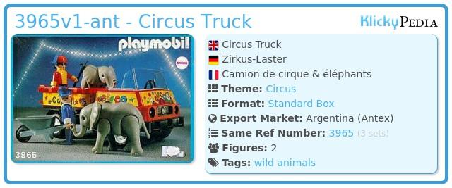 Playmobil 3965v1-ant - Circus Truck