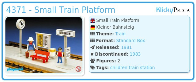 Playmobil 4371 - Small Train Platform