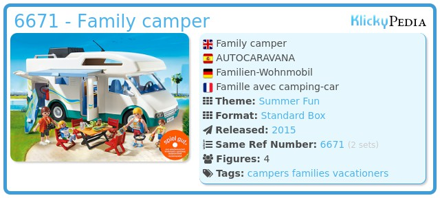 Playmobil 6671 - Family camper