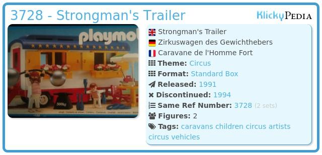 Playmobil 3728 - Strongman's Trailer