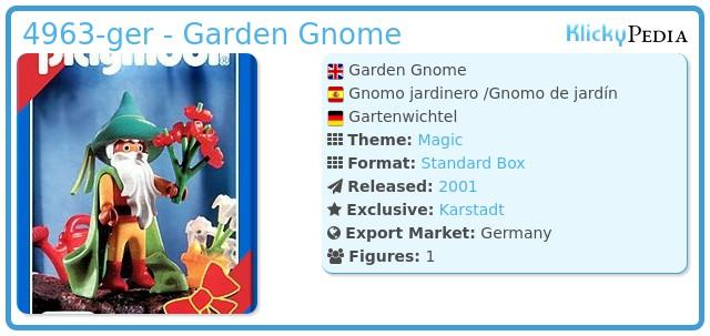 Playmobil 4963-ger - Garden Gnome