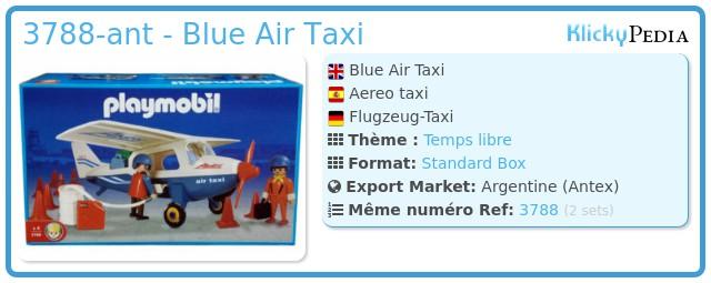 Playmobil 3788-ant - Blue Air Taxi