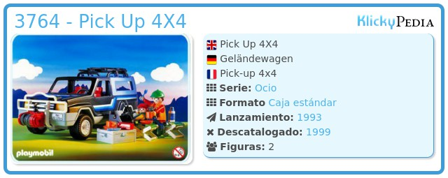 Playmobil 3764 - Pick Up 4X4