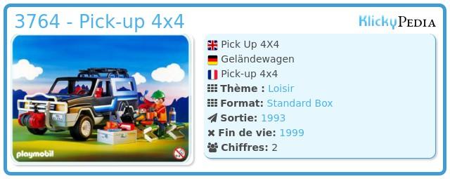 Playmobil 3764 - Pick Up 4X4