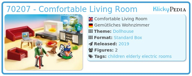 Playmobil 70207 - Cozy Livingroom