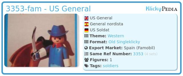 Playmobil 3353-fam - US General