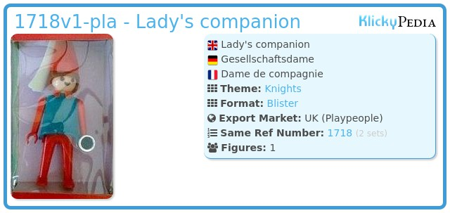 Playmobil 1718v1-pla - Lady's companion