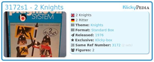 Playmobil 3172s1 - 2 Knights