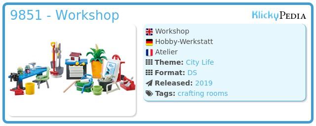 Playmobil 9851 - Workshop