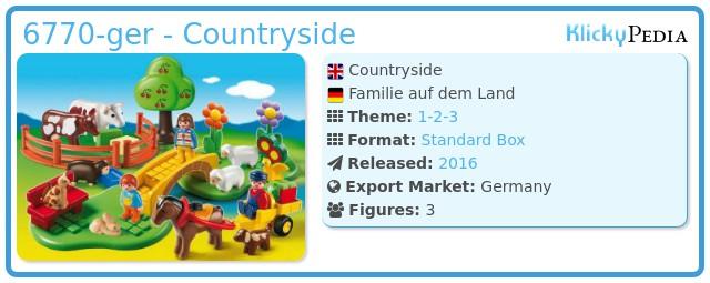 Playmobil 6770-ger - Countryside