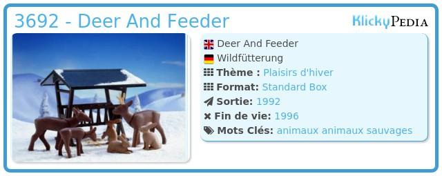 Playmobil 3692 - Deer And Feeder