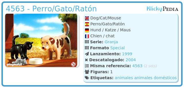 Playmobil 4563 - Perro/Gato/Ratón