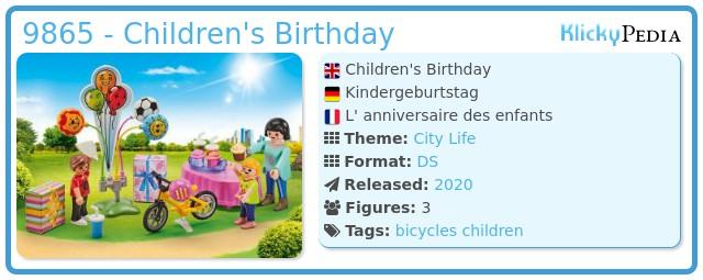 Playmobil 9865 - Children's Birthday