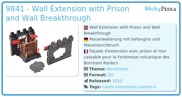 Playmobil 9841 - Wall Extension with Prison and Wall Breakthrough