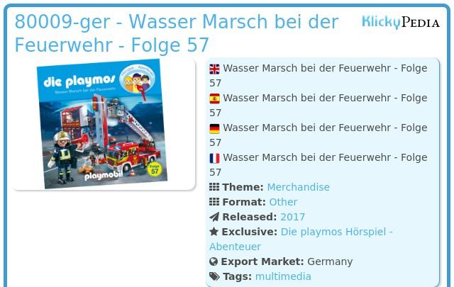 Playmobil 80009-ger - Wasser Marsch bei der Feuerwehr - Folge 57