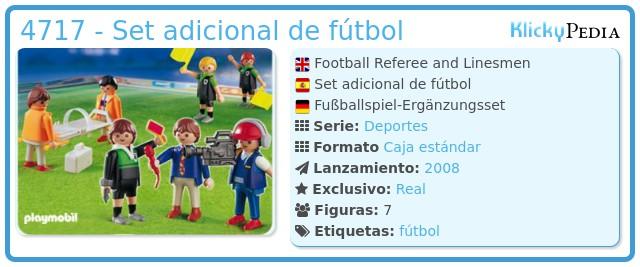 Playmobil 4717 - Set adicional de fútbol