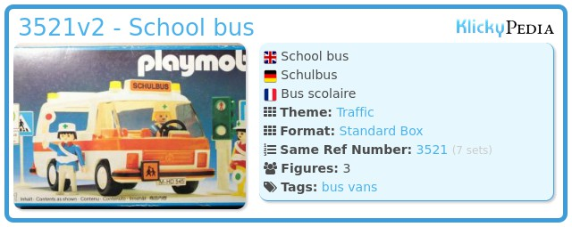 Playmobil 3521v2 - School bus