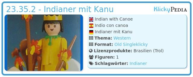 Playmobil 23.35.2 - Indianer mit Kanu