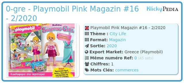 Playmobil 0-gre - Playmobil Pink Magazin #16 - 2/2020