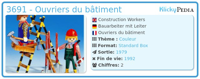 Playmobil 3691 - Ouvriers du bâtiment