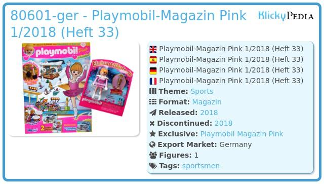 Playmobil 80601-ger - Playmobil-Magazin Pink 1/2018 (Heft 33)