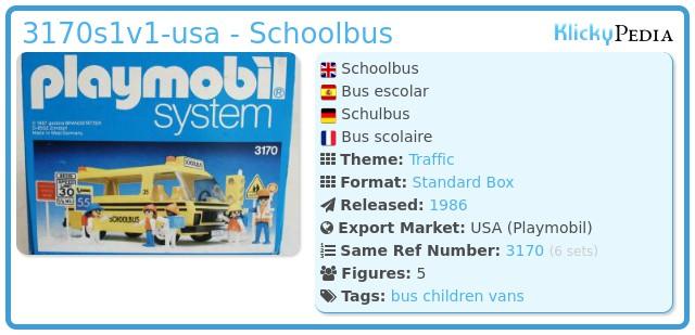Playmobil 3170s1v1-usa - Schoolbus