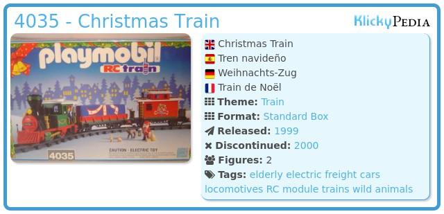 Playmobil 4035 - Christmas Train