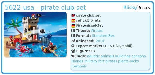 Playmobil 5622-usa - pirate club set