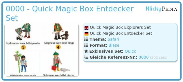 Playmobil 0000 - Quick Magic Box Entdecker Set