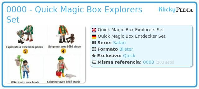 Playmobil 0000 - Quick Magic Box Explorers Set