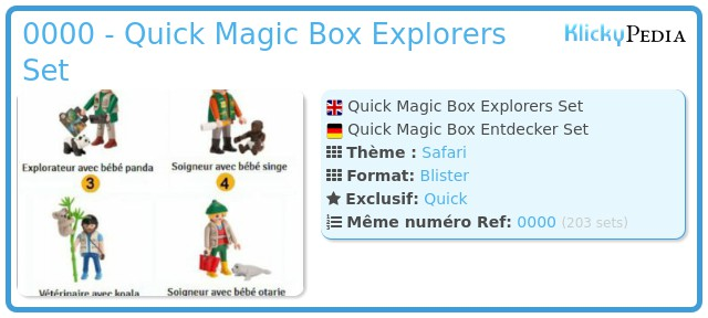 Playmobil 0000 - Quick Magic Box Explorers Set