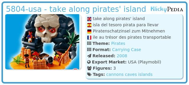 Playmobil 5804-usa - take along pirates' island