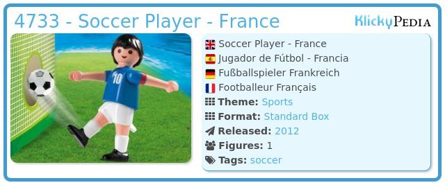 Playmobil 4733 - Soccer Player - France