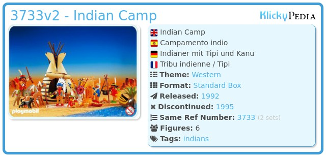 Playmobil 3733v2 - Indian Camp