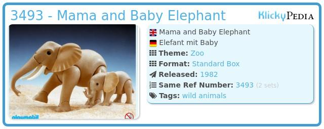 Playmobil 3493 - Mama and Baby Elephant