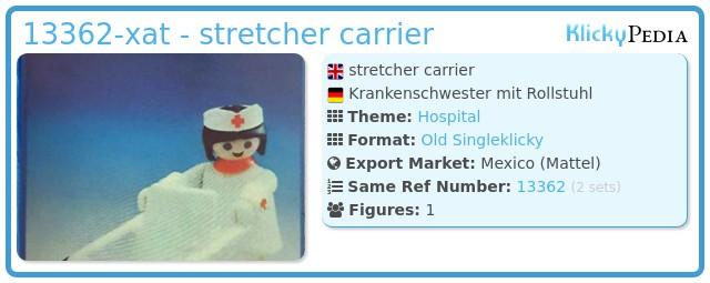 Playmobil 13362-xat - stretcher carrier