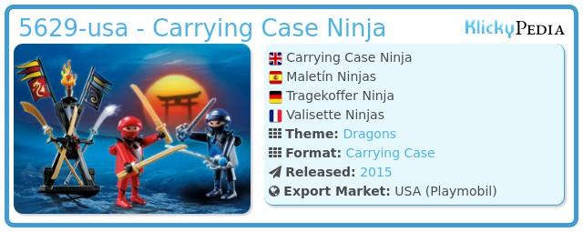 Playmobil 5629-usa - Carrying Case Ninja