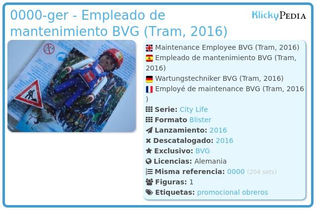 Playmobil 0000-ger - Empleado de mantenimiento BVG (Tram, 2016)
