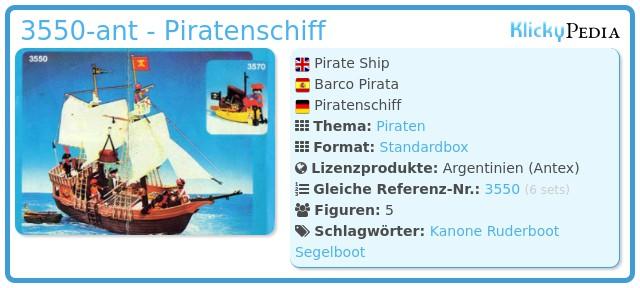 Playmobil 3550-ant - Piratenschiff