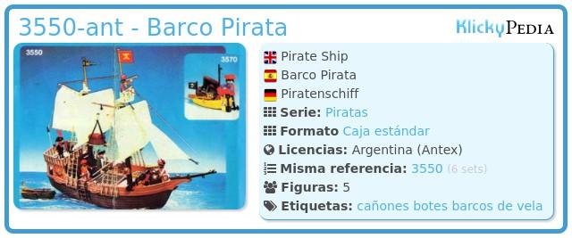 Playmobil 3550-ant - Barco Pirata