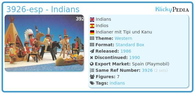Playmobil 3926-esp - Indians