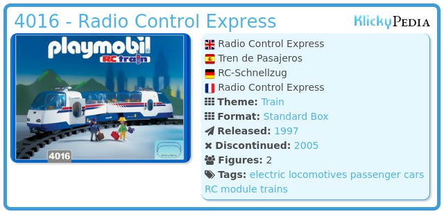 Playmobil 4016 - Radio Control Express