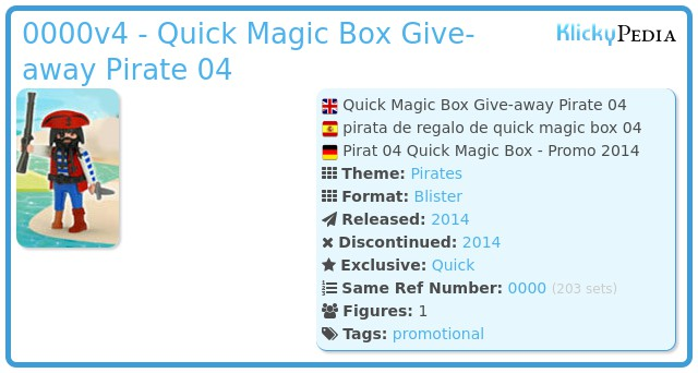 Playmobil 0000v4 - Quick Magic Box Give-away Pirate 04