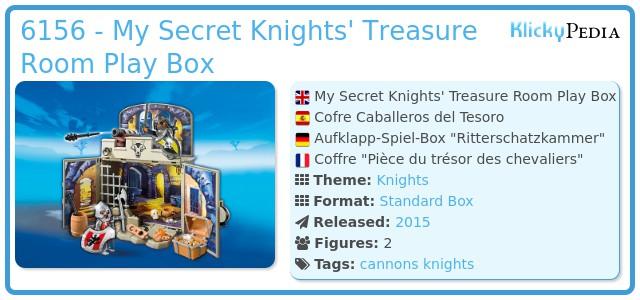 Playmobil 6156 - My Secret Knights' Treasure Room Play Box